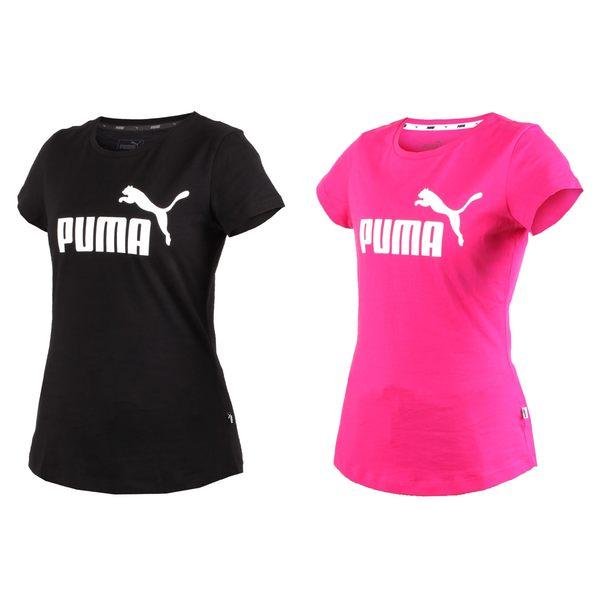 PUMA 女基本系列LOGO短袖T恤 (短T 短袖上衣 純棉≡體院≡