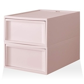 【RISU】北歐風堆疊抽屜櫃組(加大版) M -粉紅色