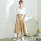 da MIIM修身雙排釦A字裙-共兩色...