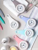 簡約浴室鐘廚房防水靜音家用吸盤鐘錶冰箱創意個性迷你小掛鐘