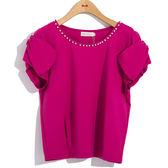 超值優惠SALE[H2O]蝴蝶結裝飾袖領口縫珠針織上衣 - 藍/白/桃紅色 #8671002 春夏下殺↘5折