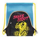 水藍黃蛇束口袋 輕便後背包 彩色塗鴉 A...