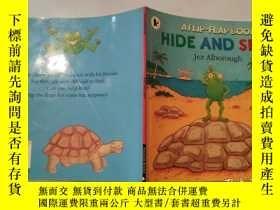 二手書博民逛書店a罕見flip-flap book hide and seek 一本翻蓋書捉迷藏Y200392