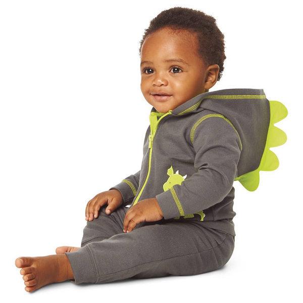 3件組長袖刷毛外套+長褲套裝: 小恐龍: 521G452