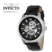 【INVICTA】紳士機械腕錶 45mm-黑色