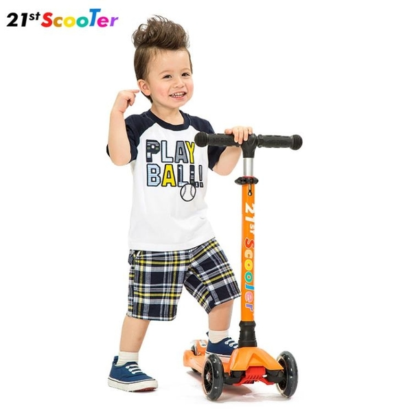 滑板車21st scooter兒童1-3-6小孩寶寶踏板滑滑車溜溜車四輪12歲 MKS極速出貨