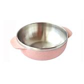 麥纖維304不鏽鋼飯碗15.5cm 粉