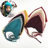 男女童保暖毛帽嬰兒帽子秋冬季6-12個月護耳兒童針織帽冬天男女寶寶毛線帽1-2歲