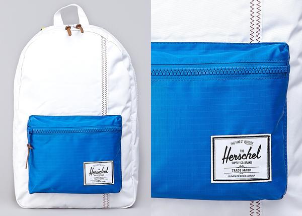 Hsin 出清 現貨 Herschel 高階 Studio Settlement 白色 水藍 黃色 帆布 光滑布 筆電層 塑膠拉鍊 後背包