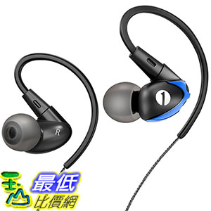 [106美國直購] 1byone Noise Isolating B01EHNQHPM Wired In-ear Sports with Flexible 運動耳機