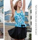 ☆小薇的店☆台灣製沙麗品牌新款【腰際蝴蝶結裝飾】時尚連身裙泳裝特價690元NO.5123(M-XL)