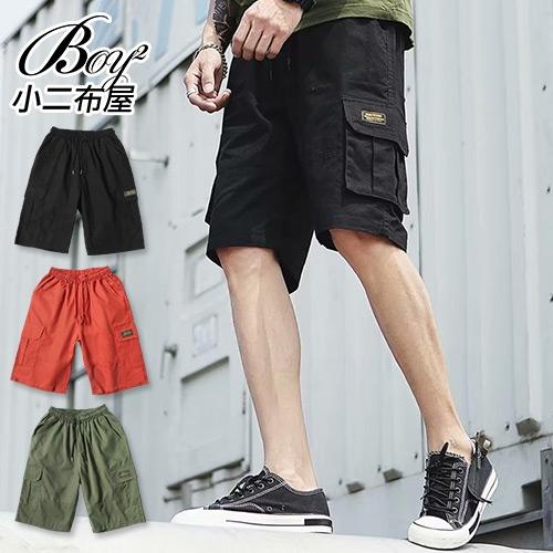 休閒短褲 工裝口袋大尺碼五分工作褲【NLYM-D104】