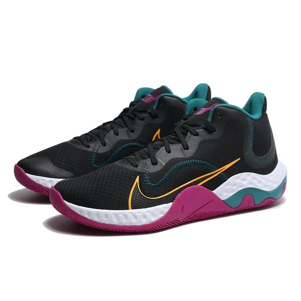 NIKE 籃球鞋 RENEW ELEVATE 黑紫綠 避震 包覆 運動 男 (布魯克林) CK2669-005