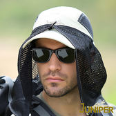 防曬帽子-抗紫外線UV運動遮陽帽+可拆式披風J7545A JUNIPER朱尼博