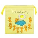 【日本正版】湯姆貓與傑利鼠 抽繩束口袋 收納袋 束口袋 小物收納 Tom and Jerry - 783938