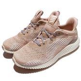 adidas 慢跑鞋 AlphaBOUNCE 1 W 粉 米白 鯊魚鰓 舒適緩震 女鞋 運動鞋【PUMP306】 AC6916