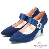 ★2018春夏新品★【CUMAR】搶眼鑽飾 瑪莉珍高跟鞋(藍色)