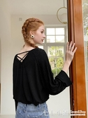 V領針織衫女秋裝長袖寬鬆毛衣粉色套頭打底上衣潮