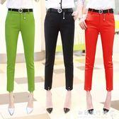 哈倫褲女九分褲韓版寬鬆薄款鉛筆小腳休閒西裝褲子 『歐韓流行館』
