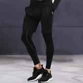 緊身褲男健身褲跑步運動壓縮褲籃球打底褲緊身衣男高彈速干訓練褲 【萬聖夜來臨】