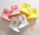 可愛卡通兒童塑膠雨鞋防滑無氣味雨靴【橘社小鎮】