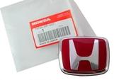 【吉特汽車百貨】HONDA 喜美 車標 貼標 競技貼標 紅色亮面 通用型 7.2x6cm CIVIC K6 K8