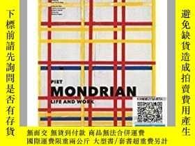 二手書博民逛書店【罕見】Piet Mondrian: Life and Work