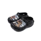 恐龍鞋 涼鞋 花園鞋 黑色 中童 童鞋 A203903-900 no052
