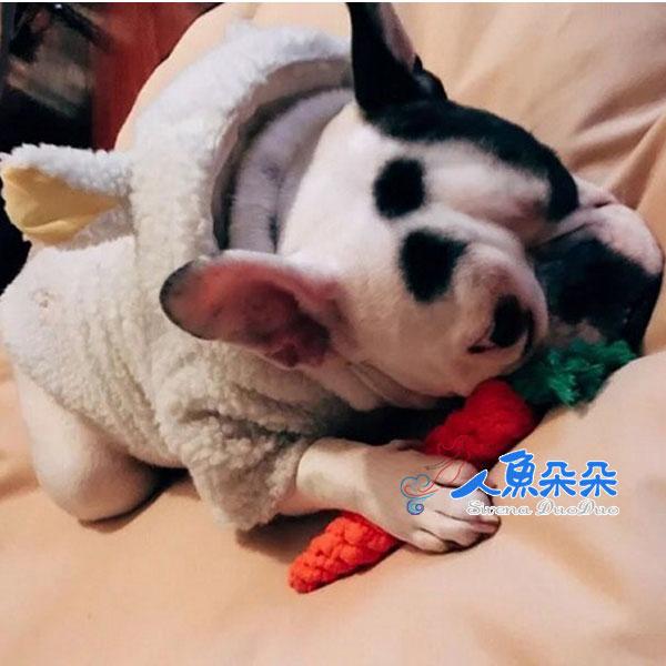 胡蘿蔔編織繩  寵物棉繩玩具 紓解壓力 潔牙除垢 狗狗磨牙 狗玩具 狗咬繩 ☆米荻創意精品館
