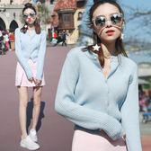 針織衫女2019秋冬季韓版新款圓領短款毛衣披肩百搭開衫外套上衣潮