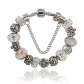 串珠手鍊-時尚精緻水晶飾品閃耀鑲鑽女配件73kc383[時尚巴黎]