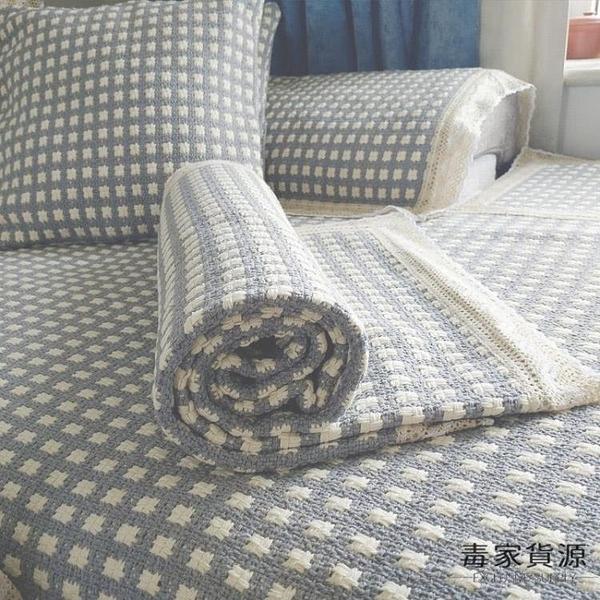 防滑沙發墊四季通用北歐簡約棉麻亞麻蓋布巾坐墊套罩【毒家貨源】
