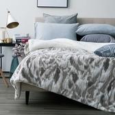 (組)安哥拉長羔絨毯雙人-灰棕+淨睡眠長效防螨抗菌支撐型對枕