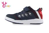 FILA 中大童 潮流韓系 LOGO款 足弓機能鞋 運動鞋 慢跑鞋 P7659#紅藍◆OSOME奧森鞋業