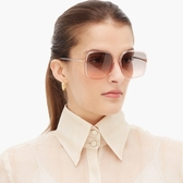 Dior 太陽眼鏡 SOSTELLAIRE1 1N5FF(透粉紫-漸層紫粉鏡片) 精緻優雅熱銷方框 墨鏡 #金橘眼鏡