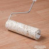 地板粘毛器可撕式紙伸縮桿粘塵灰塵衣服頭發16cm沾毛滾刷除塵滾筒LX 萊俐亞