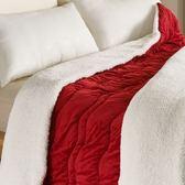 時尚雙面絨保暖毯 丹紅色款 150x210x2.5cm