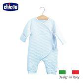 chicco-雲朵夾棉肚衣式兔裝-藍