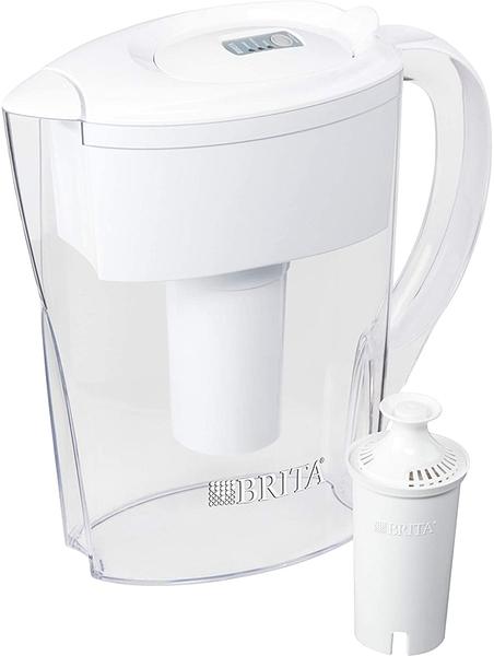 (含濾心一組) Brita 5杯水壺 (輕巧女性適用)Space Saver Pitchers, White U15