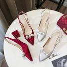 婚鞋新款新娘鞋紅色