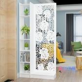 屏風 歐式客廳玄關柜屏風隔斷簡約現代門廳雕花鏤空花架置物儲物展示柜JY【快速出貨】