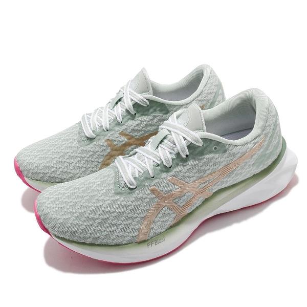 Asics 慢跑鞋 Dynablast New Strong 女鞋 女性專屬 灰綠 金 彈力型 訓練 運動鞋【ACS】 1012B001300