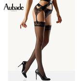 Aubade-愛在拜占庭M刺繡褲襪(黑)HD