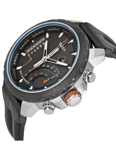 【TIMEX 】天美時 Intelligent 智慧系列飛返碼錶腕錶 (黑面銀殼/藍/黑帶 TXT2P274)