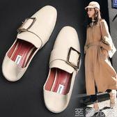 豆豆鞋女單鞋女鞋子新款春季百搭一腳蹬懶人網紅平底潮鞋春款 至簡元素