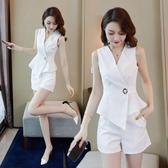 兩件式褲裝 夏季女裝套裝氣質女神范衣服兩件套短褲洋氣時尚潮流減齡-Ballet朵朵