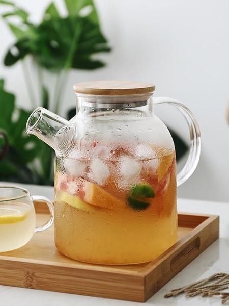 日式玻璃冷水壺套裝耐熱泡茶壺涼開水杯壺家用涼水壺電陶爐壺杯子 滿天星