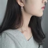 s925純銀不對稱星星耳環少女心氣質簡約韓國耳墜個性網紅潮人百搭