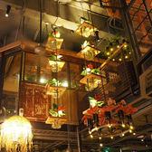 吊燈 音樂餐廳餐吧樓梯空中花園縷空植物酒吧裝飾 現貨快出YJT