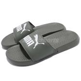 Puma 拖鞋 Popcat 灰 白 LOGO 運動拖鞋 涼鞋 基本款 男鞋 女鞋【PUMP306】 36026524